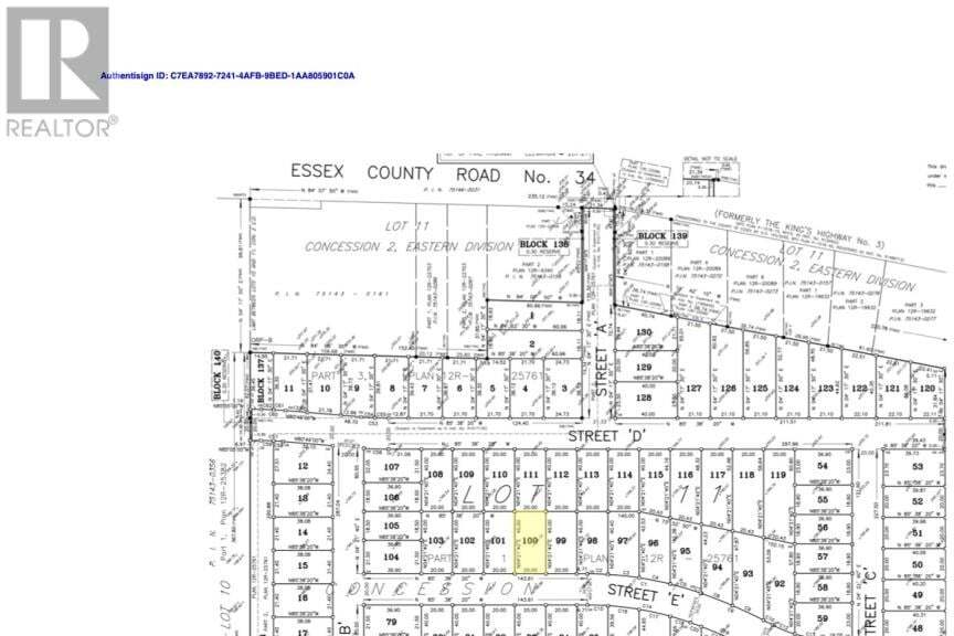 Residential property for sale at LOT 100 Sannita Ave.  Kingsville Ontario - MLS: 20009079