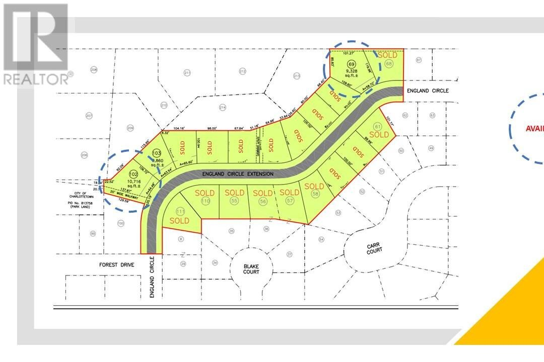 Residential property for sale at 102 England Circ Unit LOT Charlottetown Prince Edward Island - MLS: 202014521
