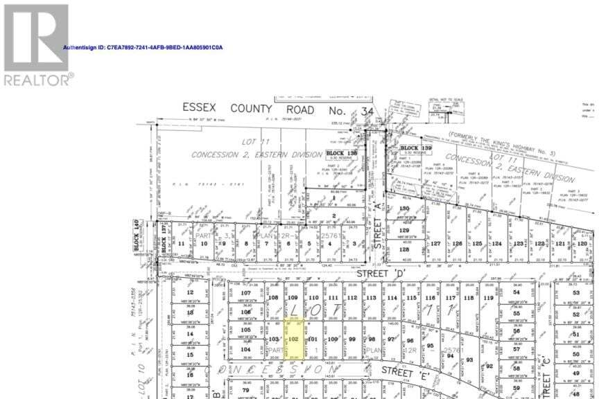 Residential property for sale at LOT 102 Sannita Ave.  Kingsville Ontario - MLS: 20009081