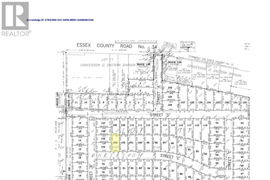Residential property for sale at LOT 103 Sannita Ave.  Kingsville Ontario - MLS: 20009082