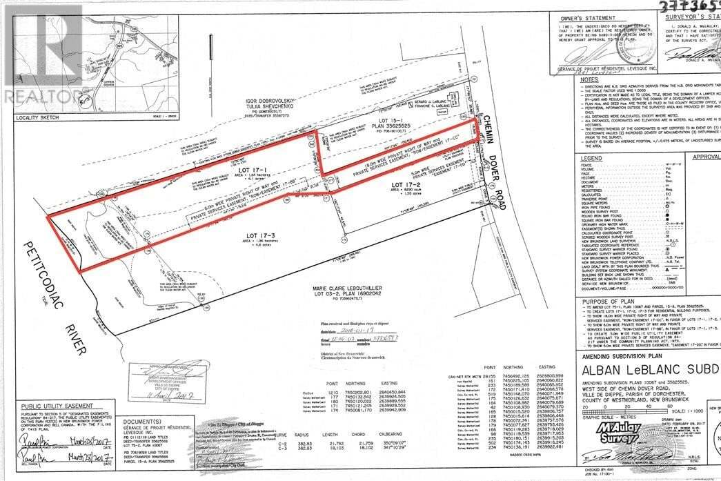 Home for sale at Lot 17-1 Dover Rd Dieppe New Brunswick - MLS: M120343