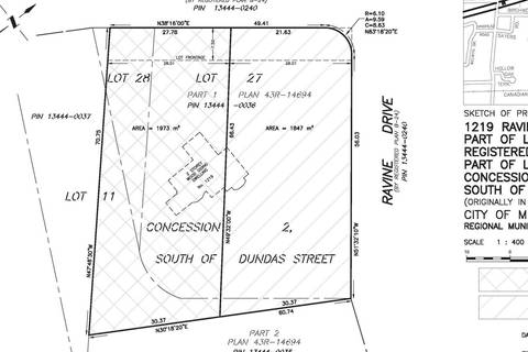 Residential property for sale at 1219 Ravine Dr Unit Lot 2 Mississauga Ontario - MLS: W4453201