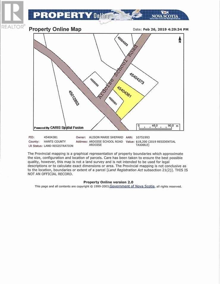 Residential property for sale at  Ardoise School Rd Unit Lot 2 Ardoise Nova Scotia - MLS: 202003857