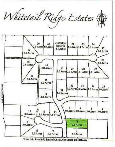 Residential property for sale at  Whitetail Ridge Estates Unit Lot 2 Rural Bonnyville M.d. Alberta - MLS: E3394434
