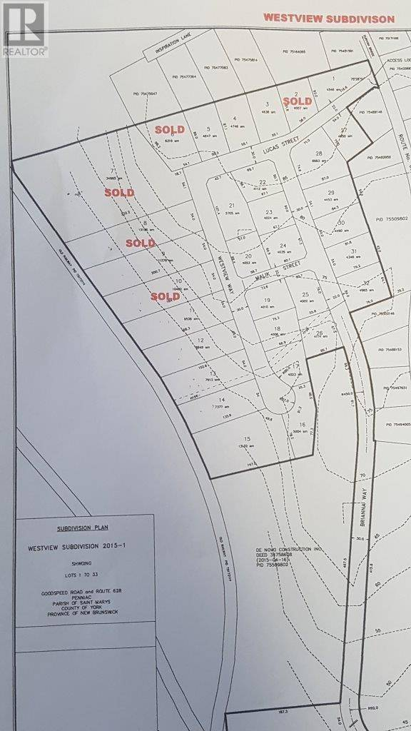 Residential property for sale at  Westview Wy Unit Lot 21 Penniac New Brunswick - MLS: NB021614
