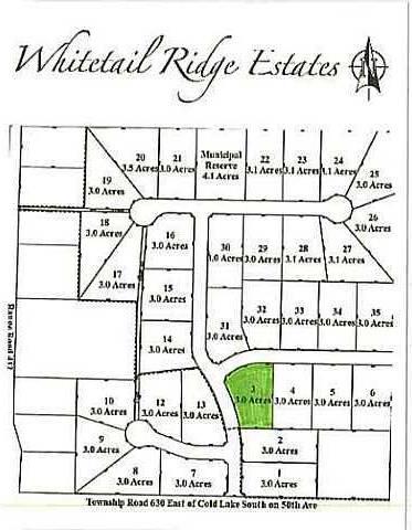 Home for sale at  Whitetail Ridge Estates Unit Lot 3 Rural Bonnyville M.d. Alberta - MLS: E3394438