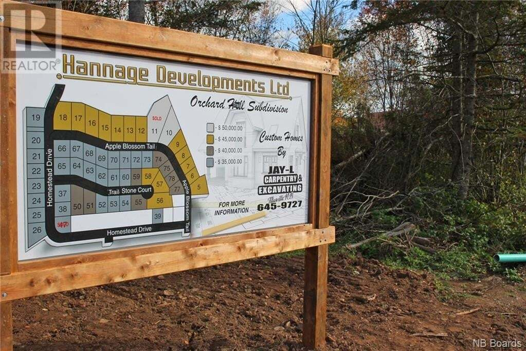 Residential property for sale at 39 Homestead Dr Unit LOT Hampton New Brunswick - MLS: NB035172