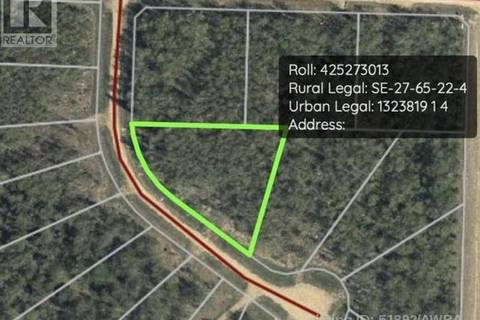 Home for sale at  Bison Rdge Unit Lot 4 Athabasca Alberta - MLS: 51892
