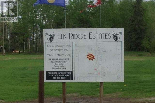 Residential property for sale at 6 Elk Ridge Estates Unit LOT Whitecourt Rural Alberta - MLS: 52540