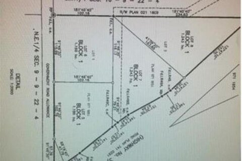 Home for sale at Lot 6  Hwy 3, Coalhurst Ab  Coalhurst Alberta - MLS: A1047006