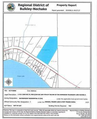 Home for sale at  Stella Rd Unit Lot 8 Fraser Lake British Columbia - MLS: R2379315
