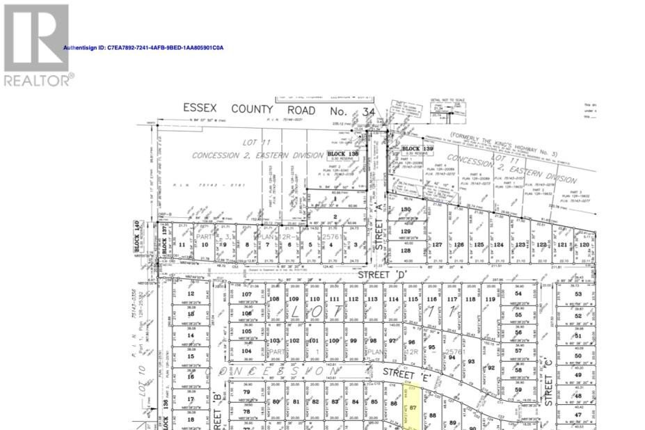 Residential property for sale at LOT 87 Sannita Ave  Kingsville Ontario - MLS: 20009069