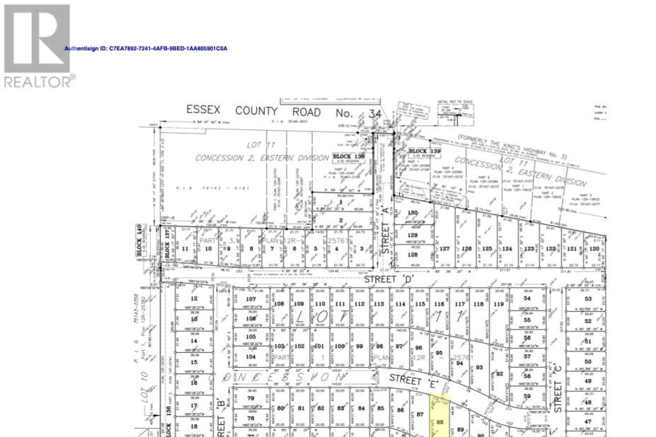 Residential property for sale at LOT 88 Sannita Ave.  Kingsville Ontario - MLS: 20009070