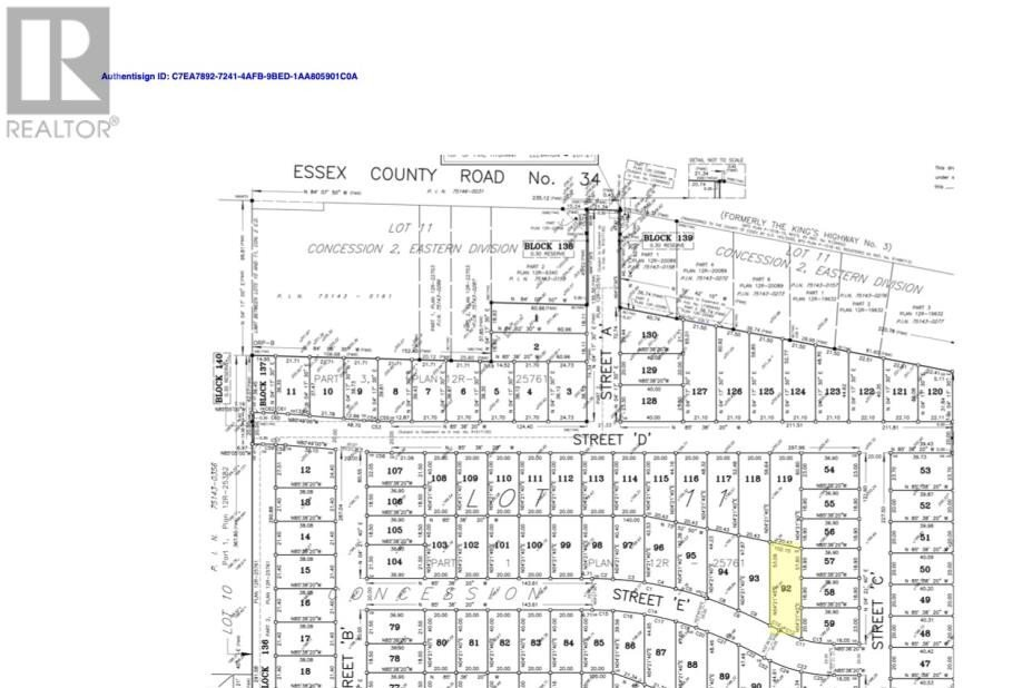Residential property for sale at LOT 92 Sannita Ave.  Kingsville Ontario - MLS: 20009072