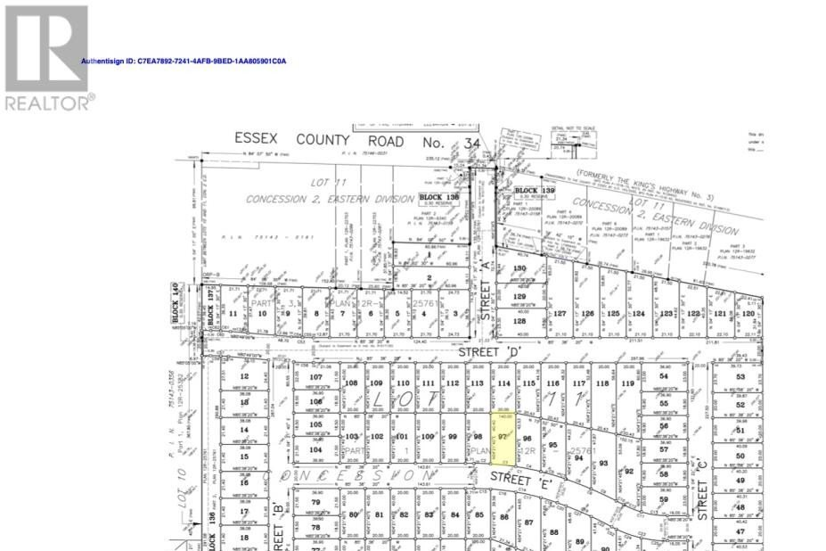Residential property for sale at LOT 97 Sannita Ave.  Kingsville Ontario - MLS: 20009076