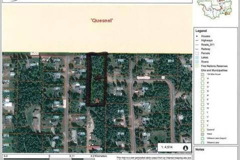 Home for sale at  Lot A Spruce Rd Quesnel British Columbia - MLS: R2267666