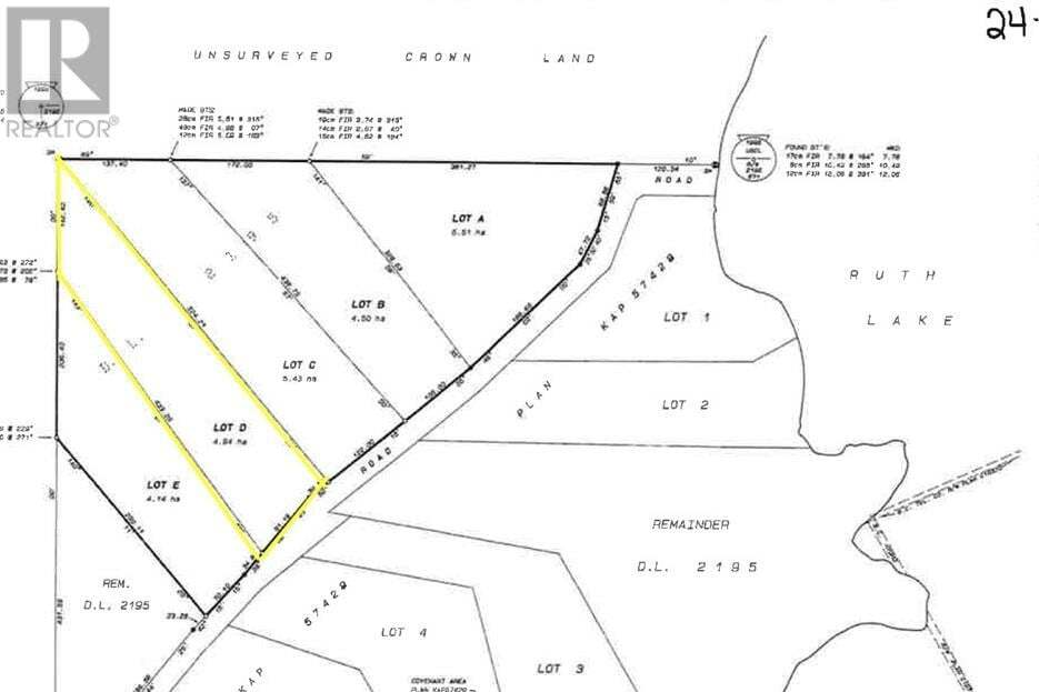 Home for sale at LOT D Ruth Lake Rd Forest Grove British Columbia - MLS: R2482125