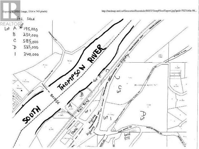 Residential property for sale at Lot D Stoney Flats Road  Pritchard British Columbia - MLS: 148675