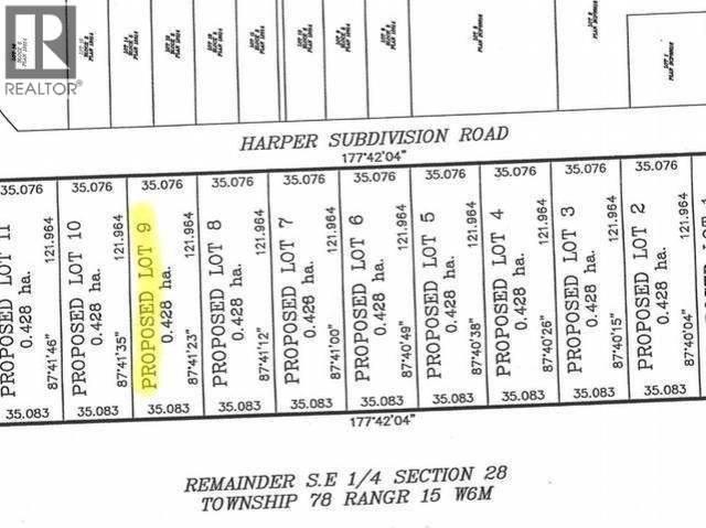 Home for sale at 9 Lot Harper Sub Sub Dawson Creek British Columbia - MLS: 169876