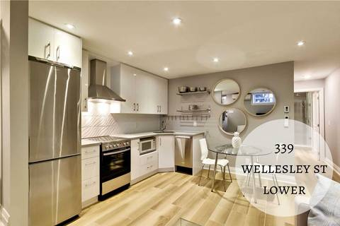 Townhouse for rent at 339 Wellesley St Unit Lower Toronto Ontario - MLS: C4570148
