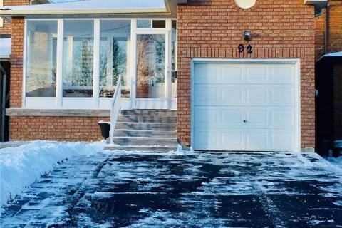 House for rent at 92 Burnt Bark Dr Unit Lower Toronto Ontario - MLS: E4647653