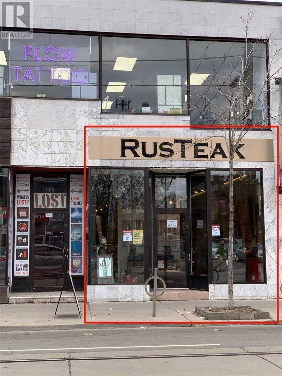 Commercial property for lease at 685 Queen St West Apartment Main #2 Toronto Ontario - MLS: C4756040