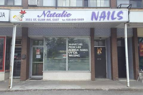 Commercial property for lease at 3551 St Clair Ave Apartment (Main) Toronto Ontario - MLS: E4434593
