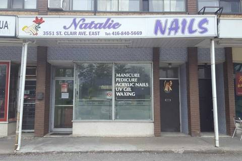 Commercial property for lease at 3551 St Clair Ave Apartment (Main) Toronto Ontario - MLS: E4516275