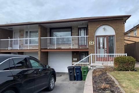 Townhouse for rent at 54 Mentor Blvd Unit Main Toronto Ontario - MLS: C4701810