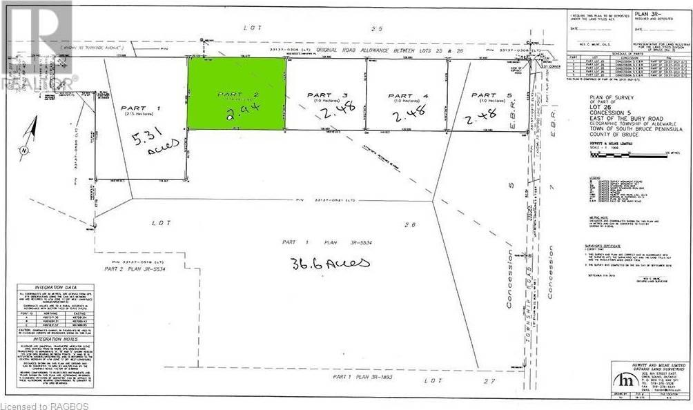 Parcel - 2 Pt Lot 26 Concession 5 Road, South Bruce Peninsula | Image 1
