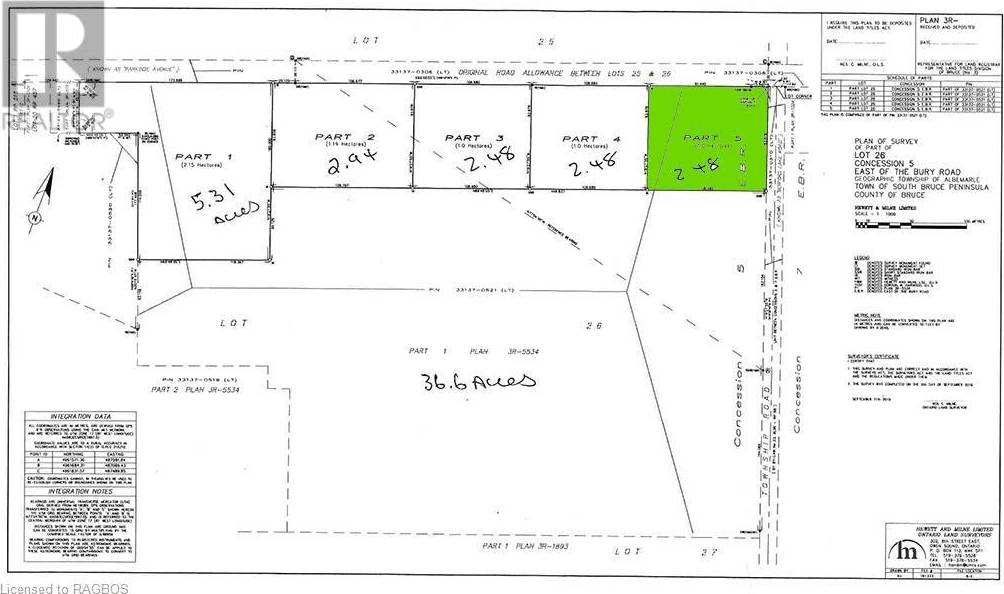 Part Lot 26, Concession 5 Road, South Bruce Peninsula | Image 1