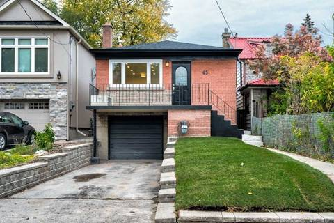 House for rent at 45 Aylesworth Ave Unit Upper Toronto Ontario - MLS: E4661062