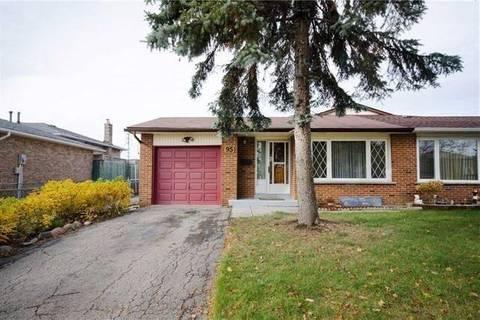 Townhouse for rent at 95 Manitou Cres Unit Upper Brampton Ontario - MLS: W4671120